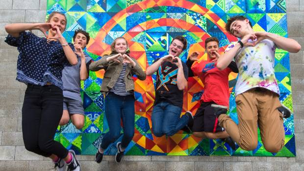 Awatapu College has introduced the Loves Me Not programme. From left, year 12s Sara Hill, Drake Bennett, Rebekah ...
