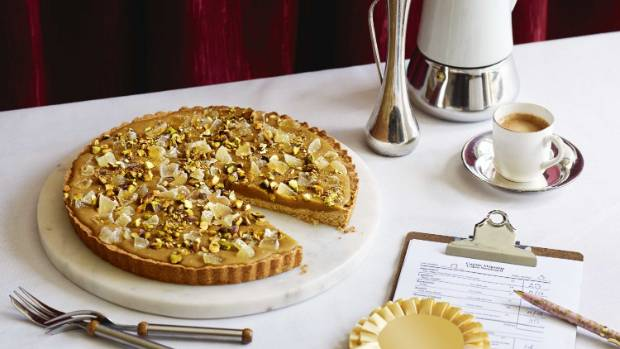 This one's certainly a winner, Sarah Tuck's ginger crunch tart with crystallised ginger.