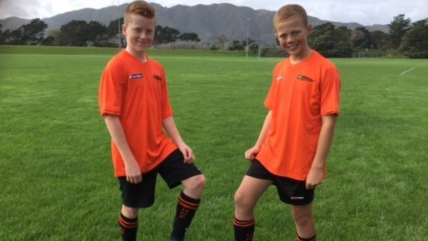 Upper Hutt City junior footballers Dan McKay and Josh McCarroll compete in the 'Super Cup' in Northern Ireland in July.
