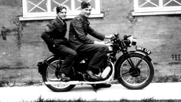 Ian Walker (left) and his friend Pat Dyer during World War II.
