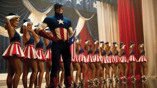 Chris Evans in Captain America: The First Avenger - Cap had a brief stint as a star of the stage during the film.