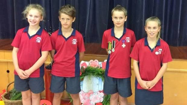 Matakana School's student leaders attend their memorial service to remember those who lost their lives in the war.