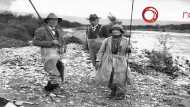 The Queen Mother appeared to enjoy a spot of fishing on her visit to New Zealand in 1927.
