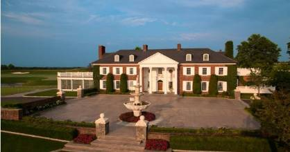 The main clubhouse at Trump National Golf Club in Bedminster, New Jersey.