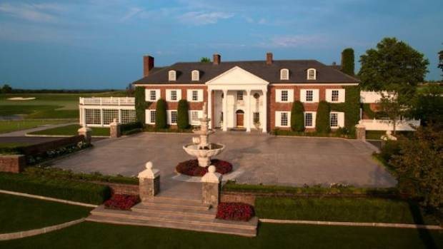 The clubhouse at Trump National Golf Club in Bedminster, New Jersey.