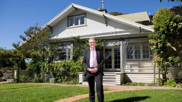 Hamilton Mayor Andrew King at his new family home.