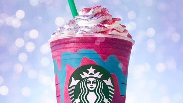 The new Starbucks Unicorn Frappuccino is certainly colourful