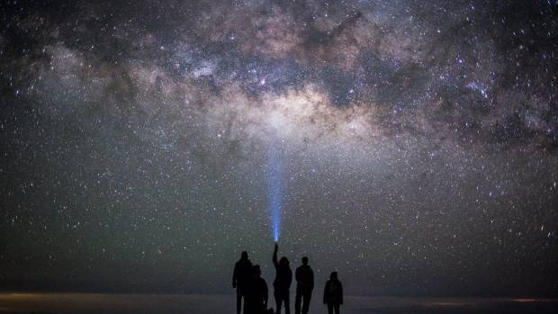 This image was taken up at Mauna Kea Observatory, on the Big Island of Hawaii. This is my friends and I standing on a ...