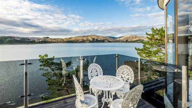The home has amazing views over the Pauatahanui Inlet.