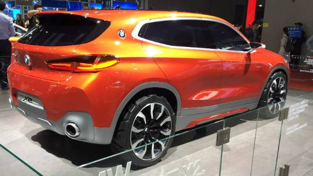 The lovely lines of BMW's X2 Concept, on display at Shanghai.