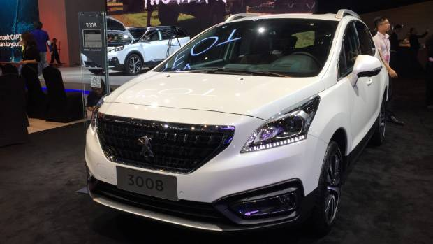 The Peugeot 3008 compact SUV.