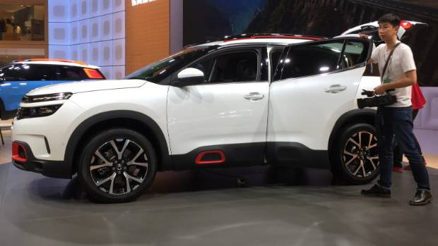 French brand Citroen used Shanghai to launch its new  C5 Aircross SUV.
