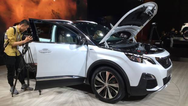 This is the new Peugeot 5008, soon to be launched in New Zealand.