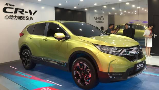 The new Honda CR-V, due in New Zealand this year.
