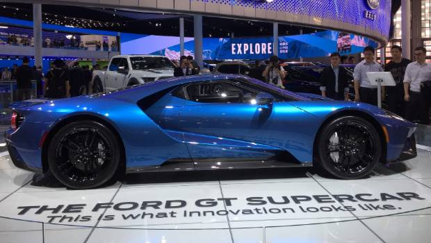It was difficult to move past the sensational lines of the Ford GT.