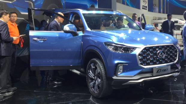 The LDV D90, officially unveiled at the Shanghai show.