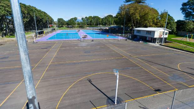 Purple and blue is set to replace grey at New Plymouth's netball courts.