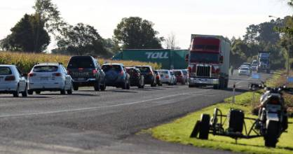 Traffic was backed up near the scene of the fatal crash north of Tokoroa.