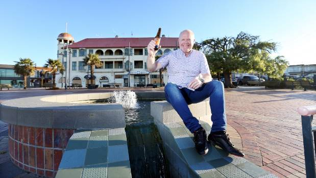 Hydro Grand Hotel developer Allan Booth celebrates news that a resource consent for the hotel's demolition has been granted.