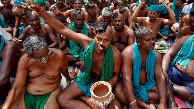 Farmers have been protesting across India in recent weeks. [FILE PHOTO]