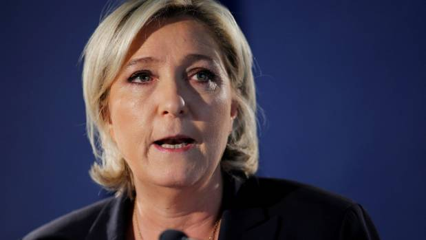 One fake news post invented a Figaro poll showing Marine Le Pen had 'won' a TV debate,