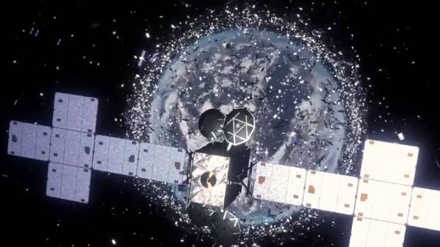 Hundreds of thousands of bits of space junk are orbiting Earth, according to Nasa, including tiny paint flecks that can ...