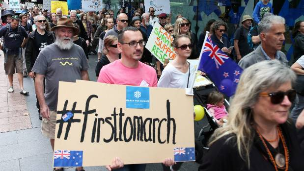 The New Zealand marches have been the first of the global day of marching.