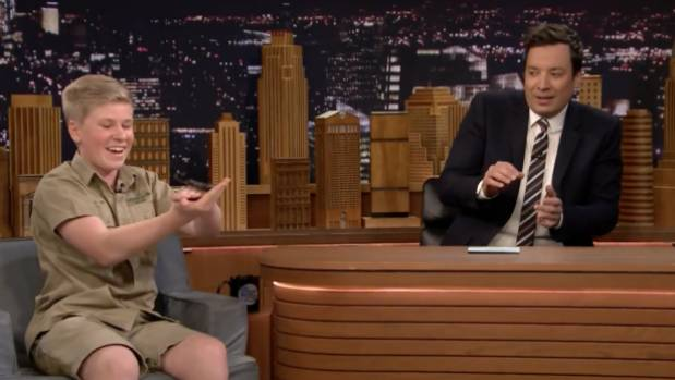 Robert Irwin and Jimmy Fallon Play With Baby Black Bears