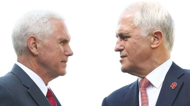 US Vice President Mike Pence and Australian Prime Minister Malcolm Turnbull  met this week. Next