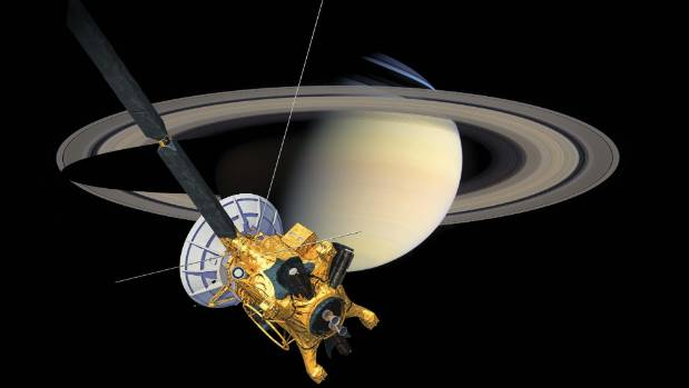 A Space Craft Goes Into Saturn S Rings