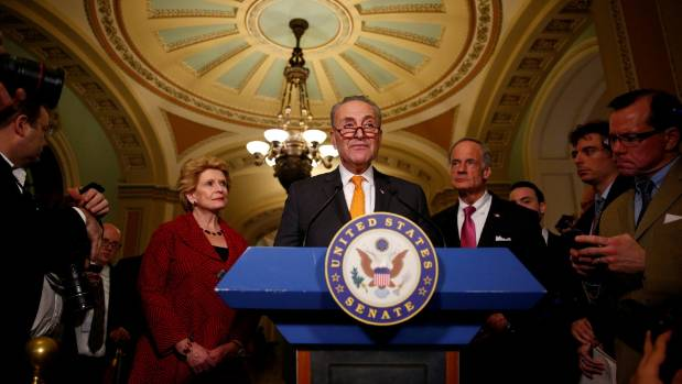 US Senate Minority Leader Chuck Schumer was optimistic about budget negotiations saying talks were going well other