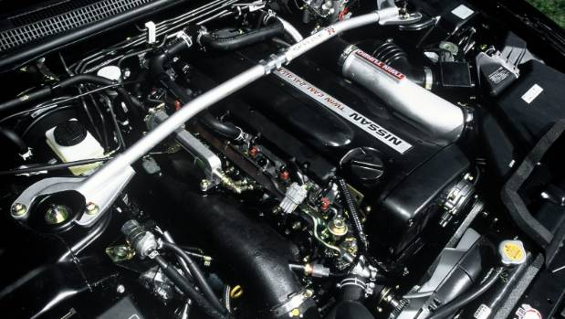 Nissan's 2.6-litre powerplant was limited to just 206kW as part of a gentleman's agreement. Yeah, right.