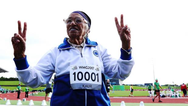 101-Year-Old Man Kaur Wins Gold in 100-Meter Event