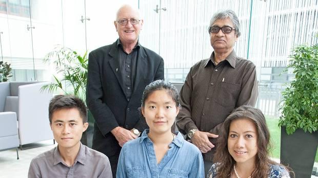 Research team members (L-R): Professor Chris Ryan, Associate Professor Asad Mohsin, masters student Zhe Chen, masters ...