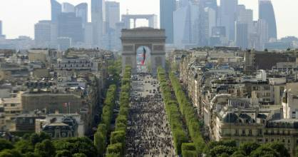 The broad, arrow-straight, tree-lined avenue was first planned at the order of France's Louis XIV.