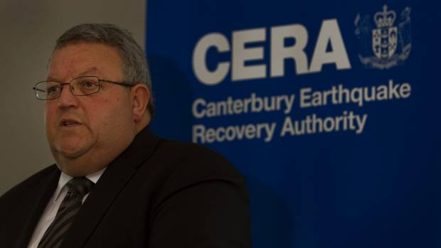 Then Earthquake Minister Gerry Brownlee during a media briefing in 2012.