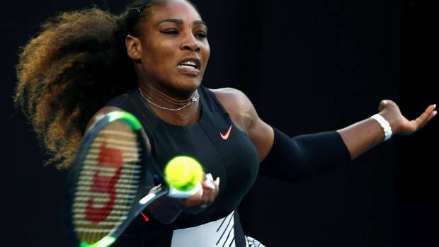 Serena Williams playing her sister Venus at the Australian Open earlier in 2017.