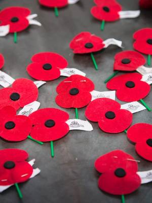 Following the dawn service, many people chose to leave their poppies on the Tomb of the Unknown Warrior.