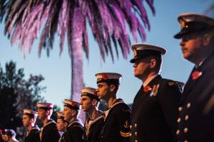 Anzac Day dawn parade and service at Anzac Memorial Park, Nelson.