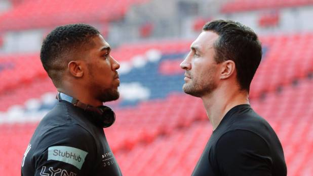 Anthony Joshua and Wladimir Klitschko are set to square-off in a world heavyweight belt in London [on Sunday morning].
