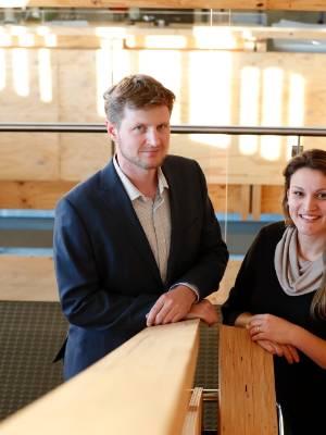 24042017 NEWS PHOTO MARTIN DE RUYTER/FAIRFAX NZMarkus Erdmann and Vivian Escorsin are part of the entrepreneur group ...