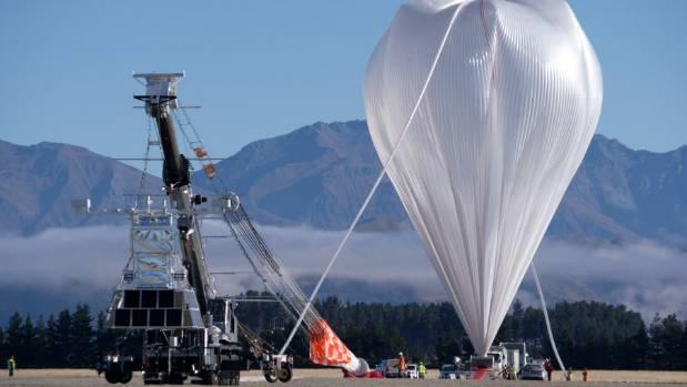 Nasa's super pressure balloon launch at Wanaka Airport.