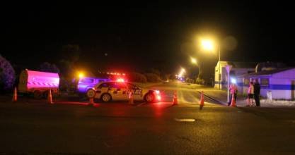 Police cordoned off Otepuni Ave in Invercargill after a suspected double shooting.