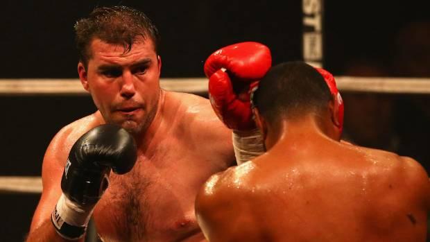 Razvan Cojanu in a 2013 fight against New Zealander Paula Mataele.
