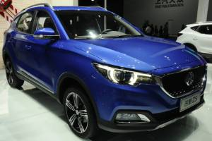 The MG ZS on display at the Shanghai auto show.