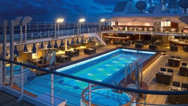 Pool deck on Silver Muse.