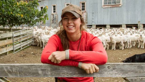 Survivor contestant Louisa McClintock, 19, works fulltime on her grandfather Graham McClintock's sheep and beef farm.