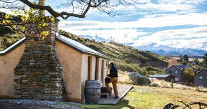 Baz and Kate Hastings' Otago holiday home began life in the 1860s with a dirt floor and unlined tin roof.