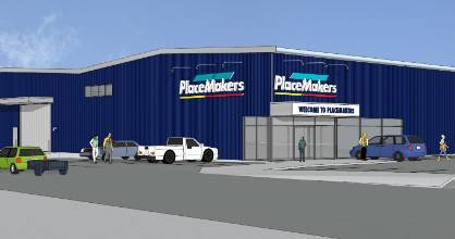An artist's impression of the new Placemakers to be built in Oamaru.