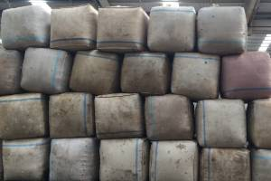 Wool bales are sitting around unsold across the country.